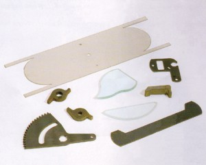 Examples of results of material-division; materials - stainless, steel, glass, cupro-alloy